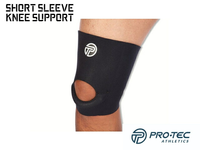 【PRO-TEC】 Short Sleeve Knee Support (Black)