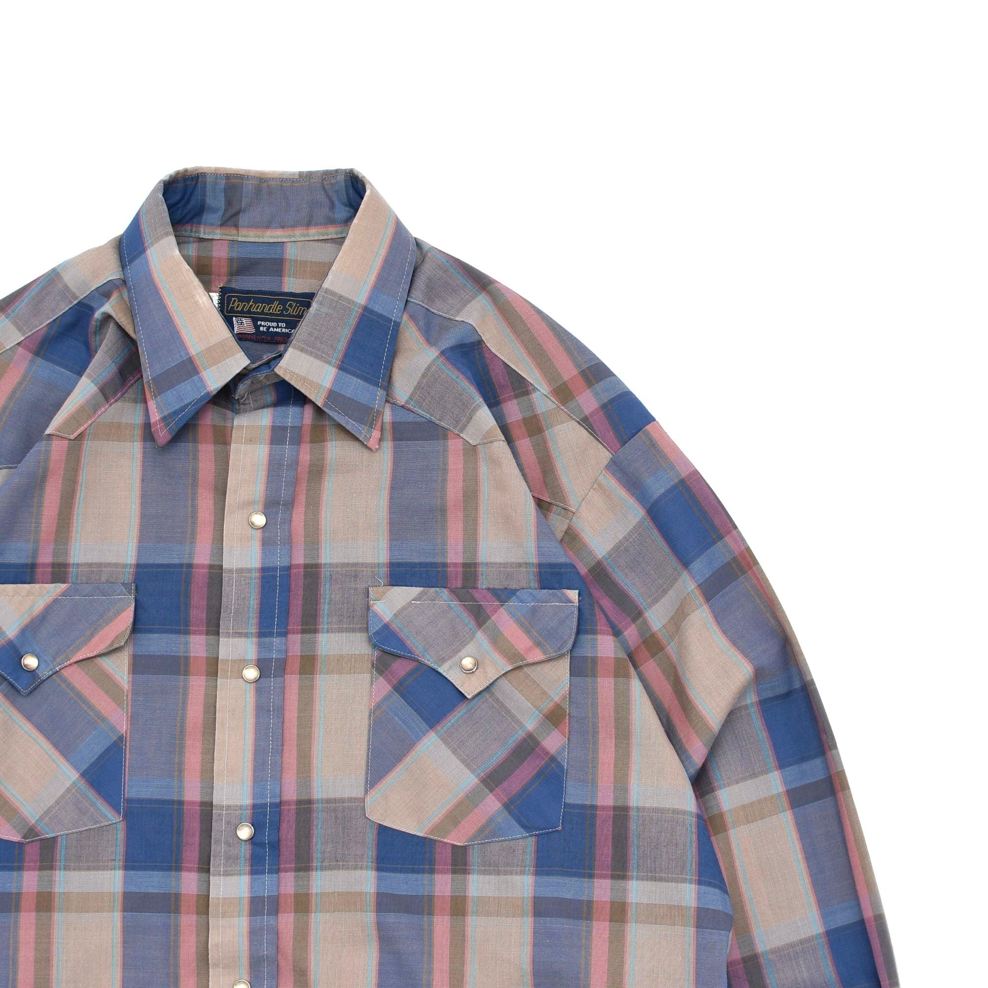 70's Panhandl Slim check western shirt