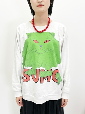 Vintage Cat SUMO Sweat Shirt Made In USA