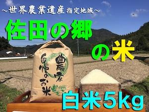 【令和3年新米】佐田の郷の米(白米5kg/玄米5.5kg)【慣行栽培米】