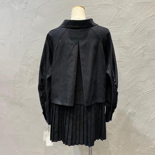 ara・ara/デニムプリーツシャツジャケット