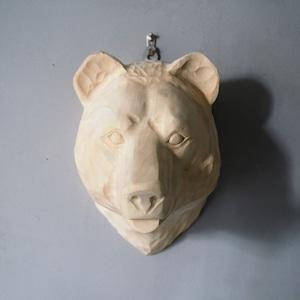 Wood Animal Head Bear