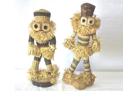 アフリカ コンゴ人形二人 Pende族ザイール  世界風俗民族人形
