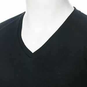 セクシーにキメたいなら!半袖VネックTシャツ(ブラック)CFWS3555
