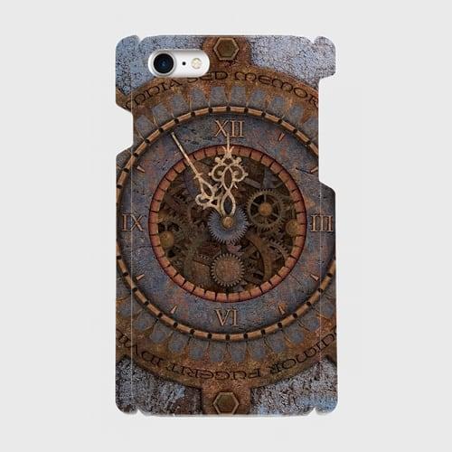 古時計スチームパンク/iPhoneスマホケース(ハードケース)