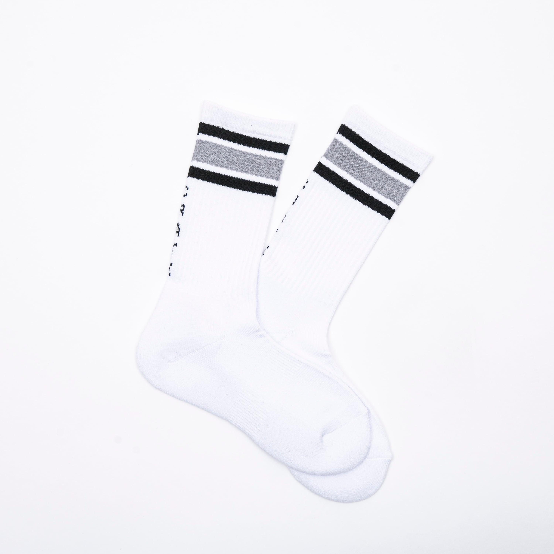 LINE SOCKS WHITE×BLACK