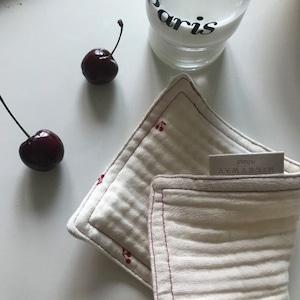 【韓国雑貨】MILKYWAY HOME. cherry キッチンクロス(2枚セット)