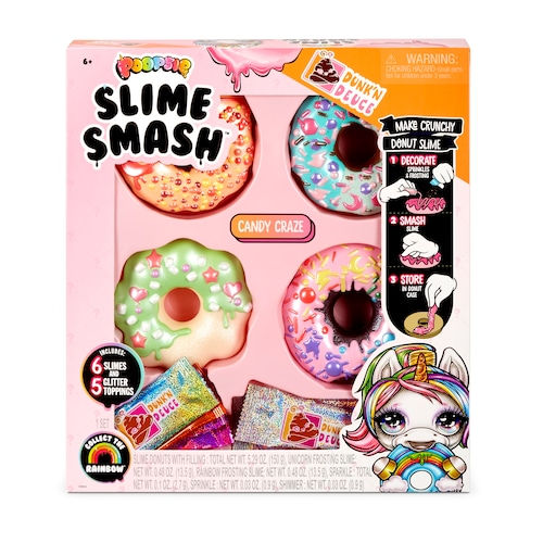 Poopsie Slime Smash Candy Craze with Crunchy Glitter Slime & 4 Donut Shaped Storage Cases