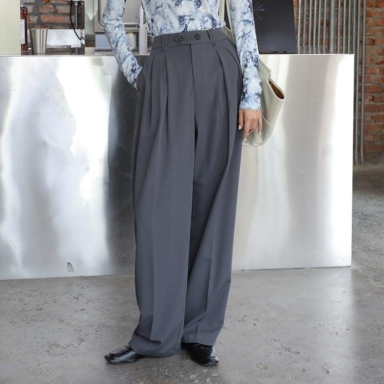 Loose straight drape pants(ルーズストレートドレープパンツ)a-732