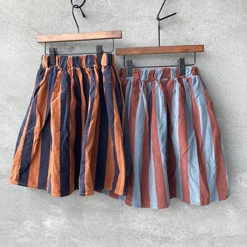 コーデュロイストライプスカート