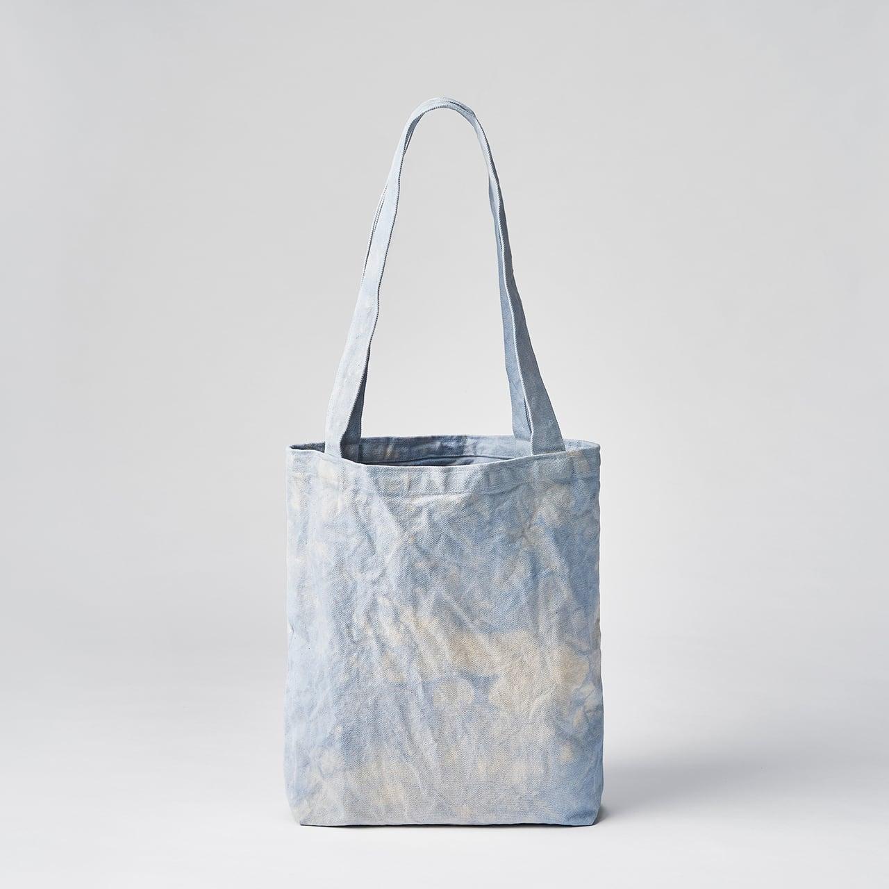 天日干し帆布のトートバッグ(ライトブルー)