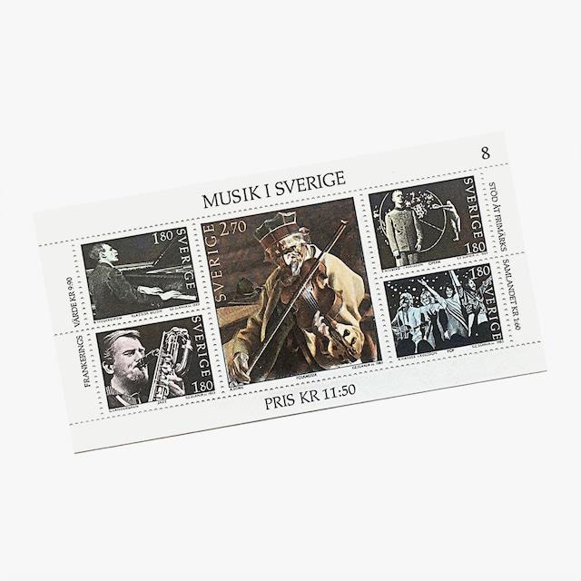 切手(未使用)「スウェーデンの音楽(1983年発行)」