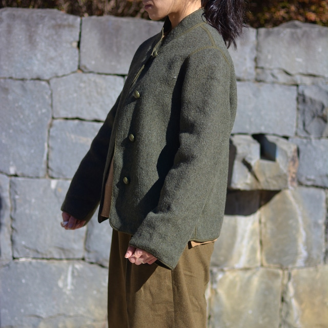 【MADE IN FRANCE】WEINBERG ミリタリースタイルニットジャケット