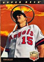 MLBカード 93UPPERDECK Tim Salmon STAR ROOKIE CHECKLIST #001