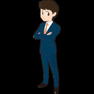 腕組みする若い男性ビジネスマン