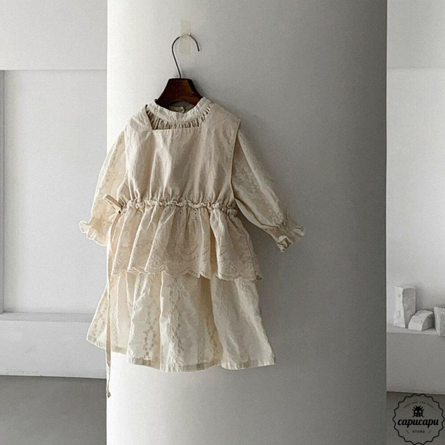 «sold out» embroidery one piece 2colors 刺繍ワンピース