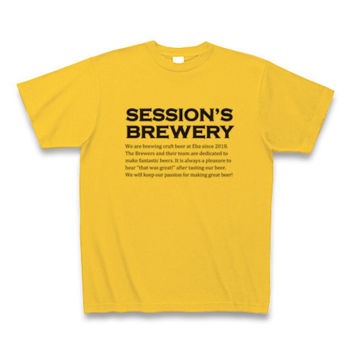 Session's BreweryロゴTシャツ イエロー