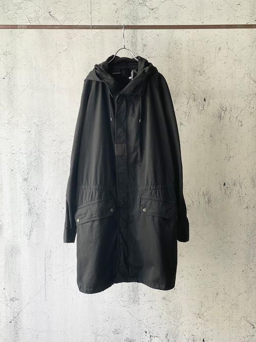 black dyed mods coat