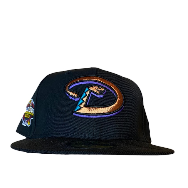 NEW ERA Arizona Diamondbacks 1998 Inaugural Season 59Fifty Fitted / Black (Pink Brim)