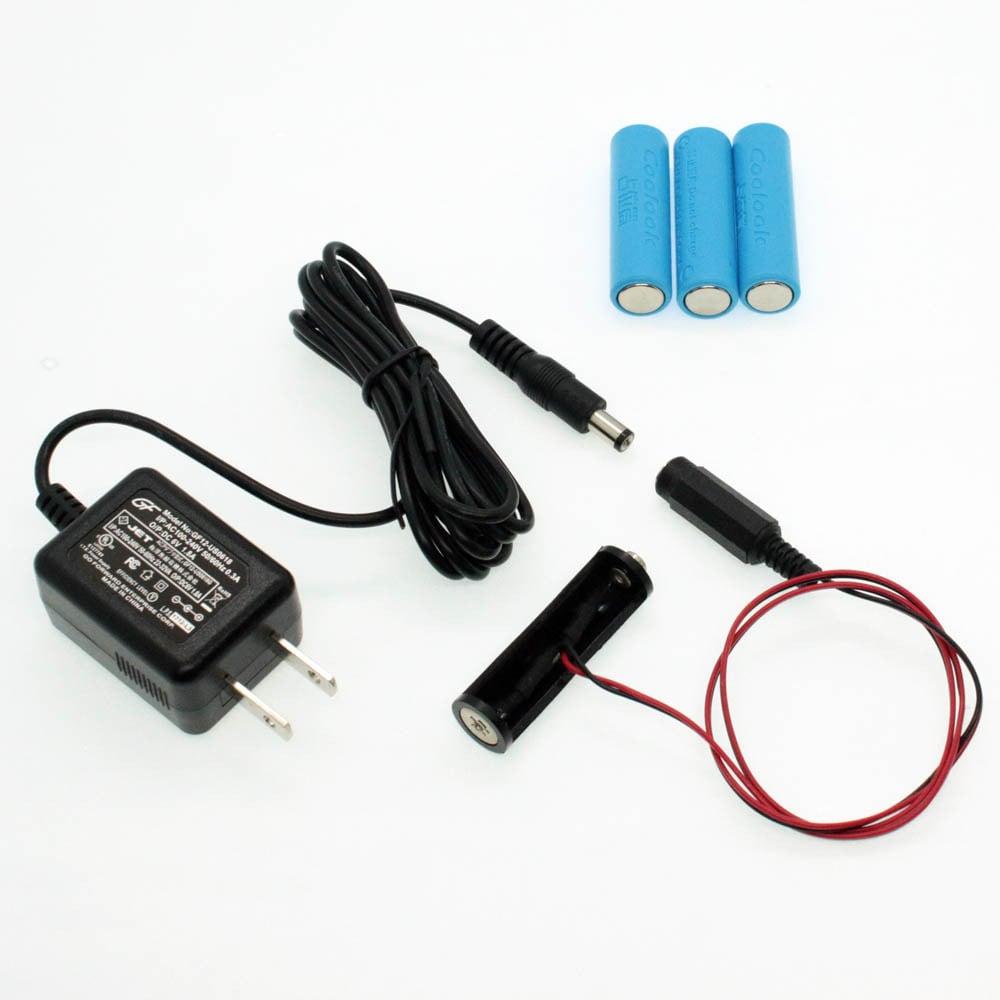 単3電池×4本用 ACアダプター接続ケーブル 50cmセット品 [AABAT-4-50cm-SET]