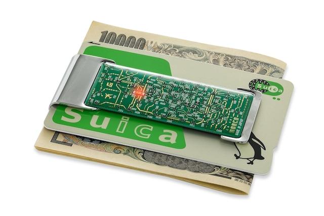 FLASH 関西回路線図 ICカードクリップ  緑 【名入れ無料サービス実施中】