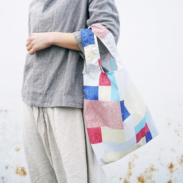 《新聞掲載》【akari】エコバッグ 折りたたみ ◎ご自宅でお洗濯も◎買いものバッグ コンパクト パッチワーク