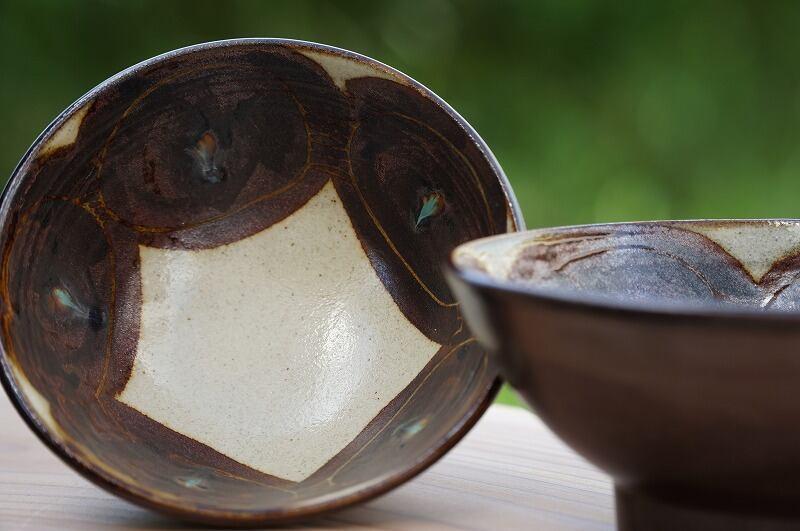 4寸ボウル 鉄絵 2個セット【石倉陶器所】石倉一人
