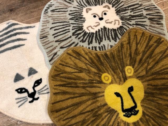 chubby アニマルラグ《ライオン/ハリネズミ/ネコ》