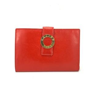 CELINE セリーヌ サークル ロゴ リング 二つ折り ウォレット ミニ財布 財布 レッド Accessories wwcutw