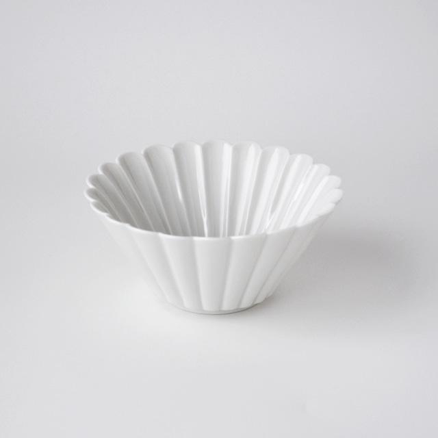 白高麗菊彫反鉢(M)