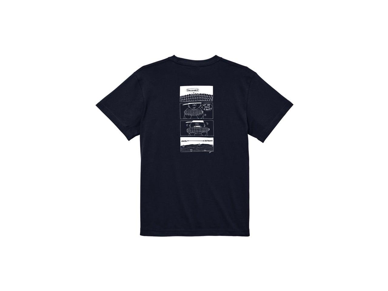 SHI x coguchi corn SD T-shirts (NV/WH)