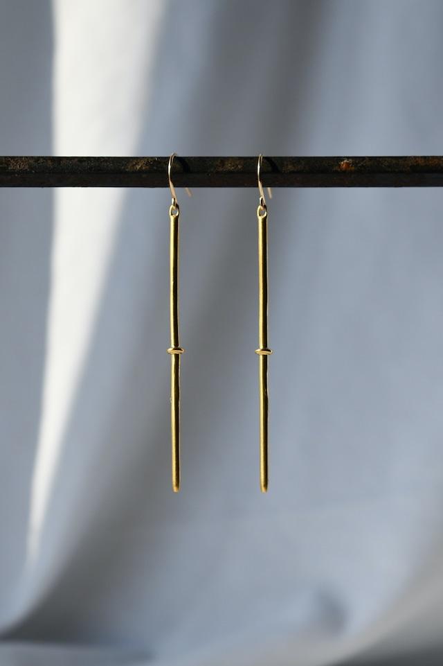 Brass Stick Design Earrings 真鍮スティックデザインピアス/イヤリング