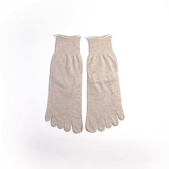炭染めオーガニックコットン100%5本指靴下【重ね履き靴下3足セット 2枚目用】