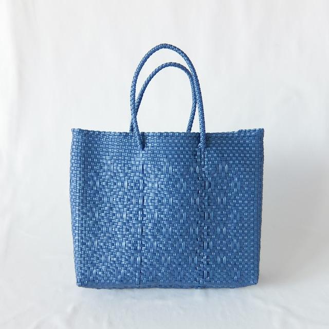 Letra - メルカドバッグ ROMBO - Metallic Blue - サイズXS