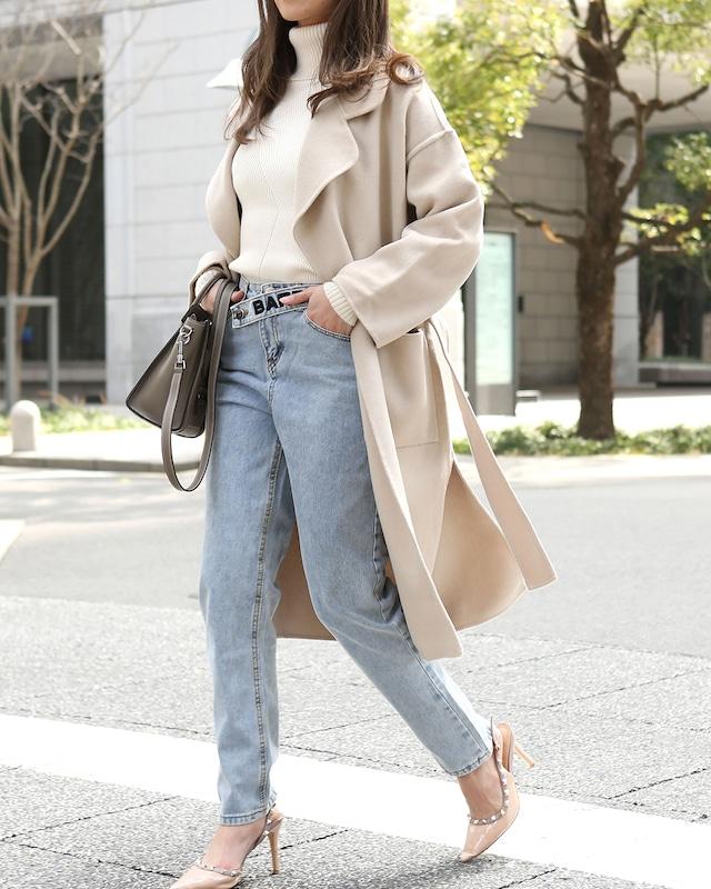 【高品質100%ウール】シンプルカラーコート 6色展開