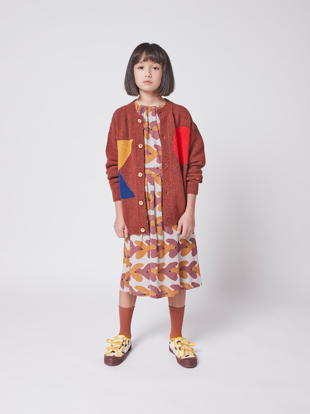 【21AW】bobochoses(ボボショセス)Geometric Knitted cardigan カーディガン
