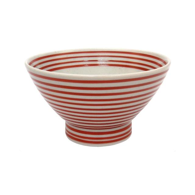 波佐見焼 24to3 和山窯 くらわんか 飯碗 茶碗  約11cm 朱駒 446006