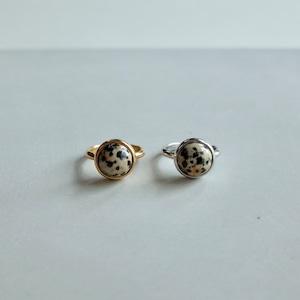 Round Stone Ring (Dalmatian) [WM-RG040]