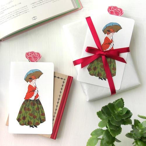 薔薇を引き出せるメッセージカード 薔薇と貴婦人