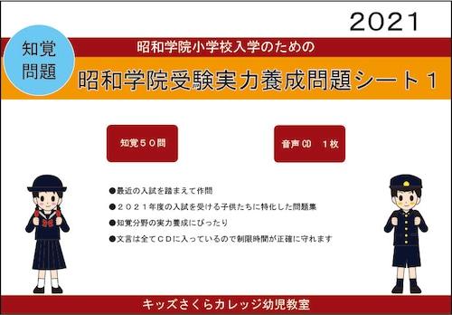 昭和学院小学校受験実力養成問題シート 第1集 「知覚」