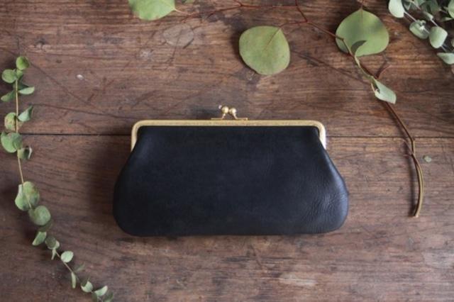 [Una borsa] 革のがま口財布
