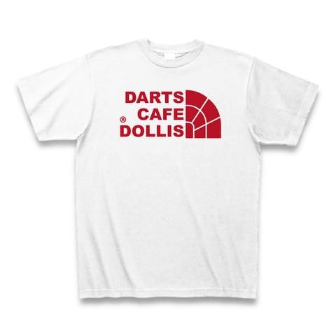 DOLLiSフェイスロゴTシャツ(白/赤)