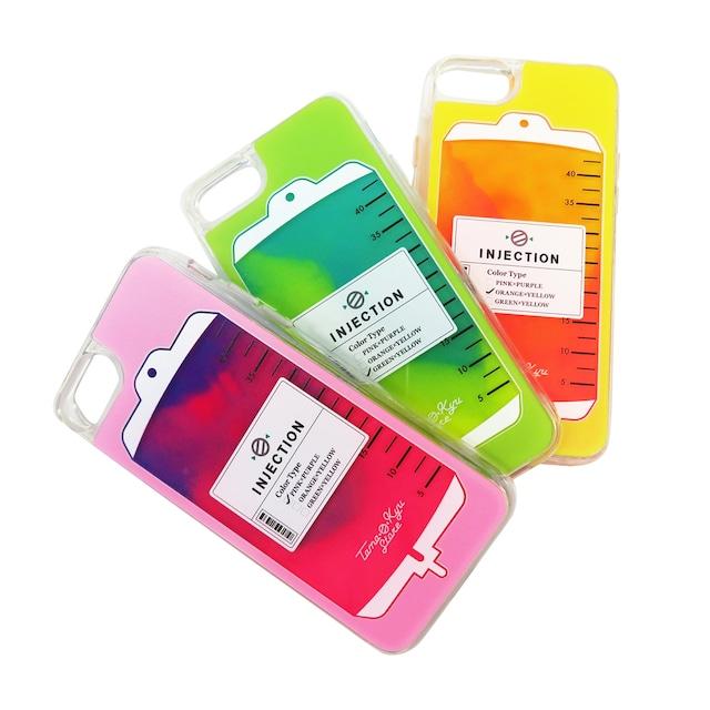 点滴 iphone ネオンサンドケース(iphone 6/7/8/SE2対応)