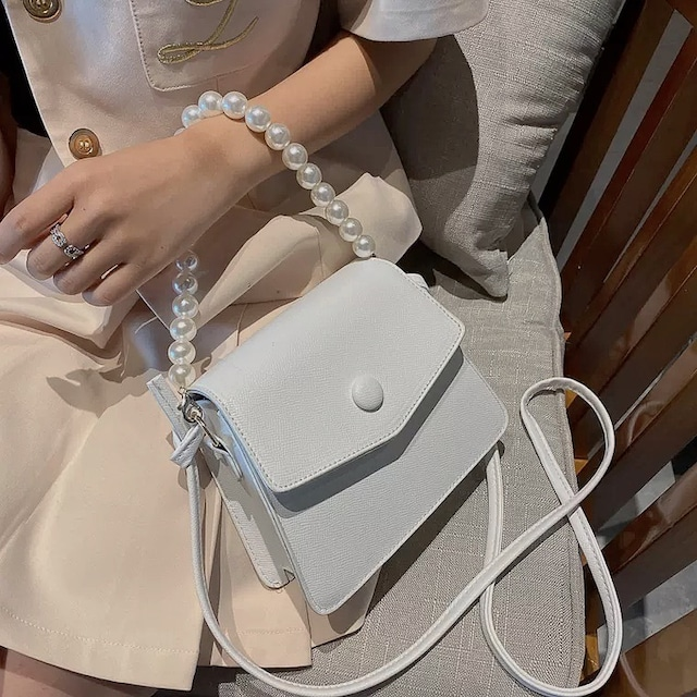 pearl trapezoid bag 2color