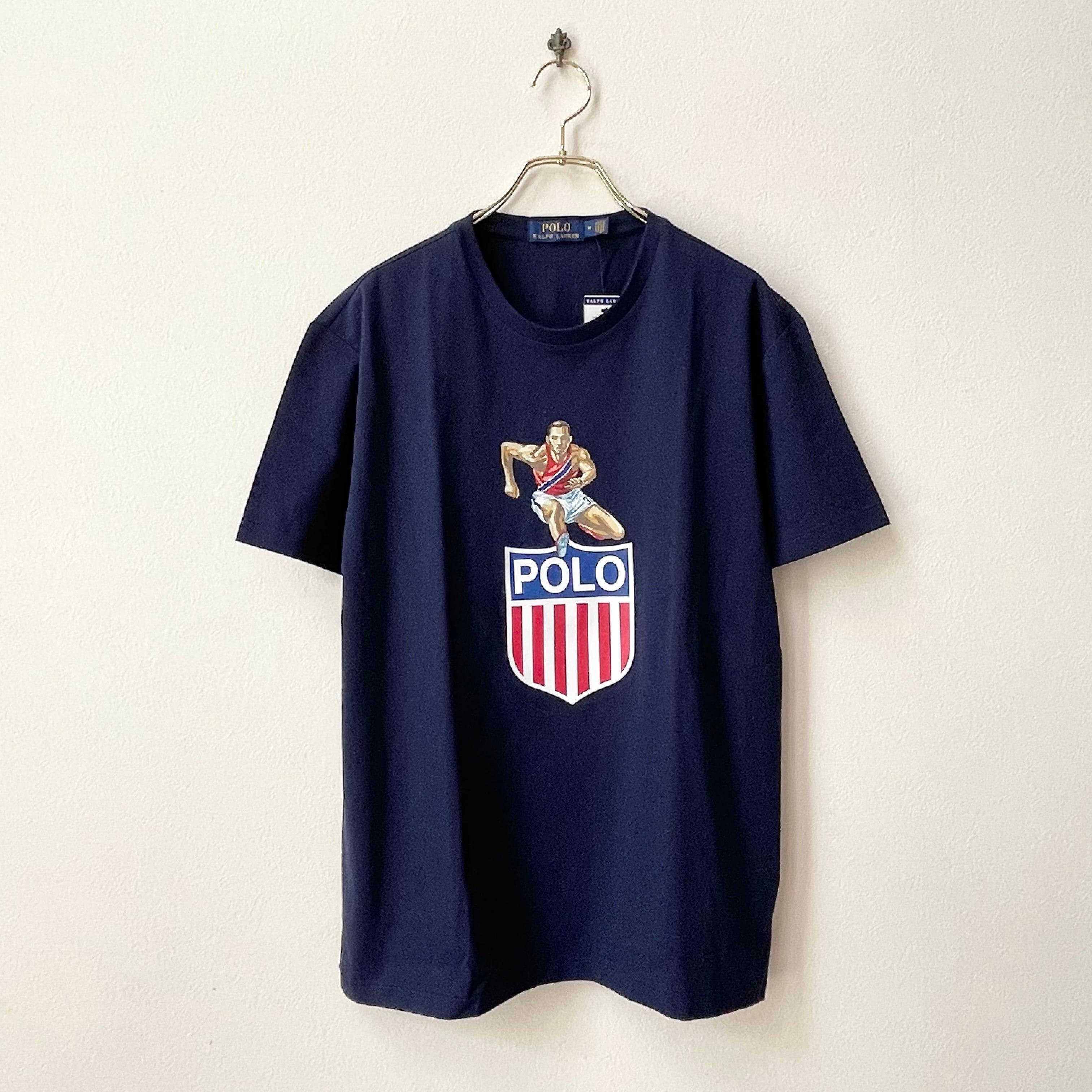 POLO RALPH LAUREN ポロラルフローレン アスリート フラッグ プリントTシャツ US規格 新品セレクト 日本L