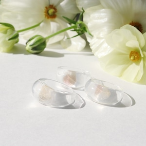 RING || 【通常商品】 ROUND SHAPED CLEAR RING (KASUMI PINK X GOLD) || 1 RING || CLEAR || FBA038
