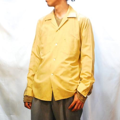 【USED】60s ポリコットン オープンカラー シャツ