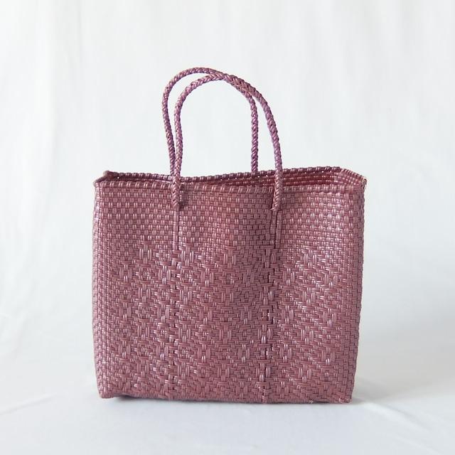 Letra - メルカドバッグ ROMBO - Metallic Pink - サイズXS