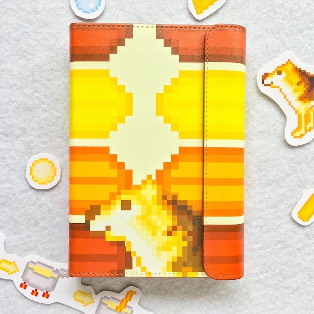 システム手帳ミニ6穴(ポケット)サイズ  チーズ熟成中とヒデくん柄