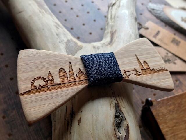 木製 蝶ネクタイ #CityContrast London - 画像4